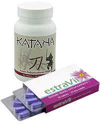 Katana male libido enhancer and estraVil libido enhancer both do wonders for your sexlife. These are a must for the bedroom thrills of multiple orgasms.